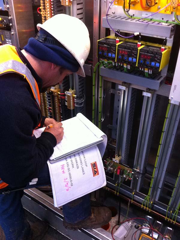 HRD Rail signal system testing